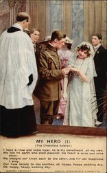 My Hero - The Chocolate Soldier - Soldier's Wedding Postcard