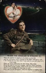 When The Angelus is Ringing - Soldier Postcard