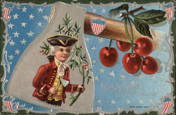 George Washington, an ax and cherries