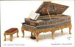 The Queen's Dolls' House. Grand Piano in Drawing Room