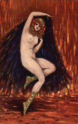 Nude Girl with Cape