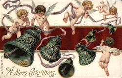 "Cherubs and Bells - ""A Merry Christmas"""