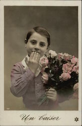 Boy with Bunch of Roses