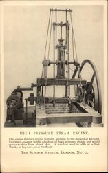 High Pressure Steam Engine Postcard