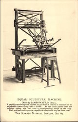 Equal Sculpture Machine. Made by James Watt, in 1809-14 Postcard
