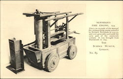 Newsham's Fire Engine, 1734 Postcard