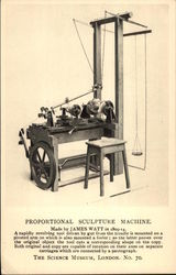 Proportional Sculpture Machine Postcard