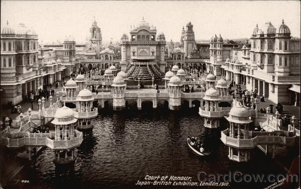 Court of Honour, Japan-British Exhibition. London. 1910 England
