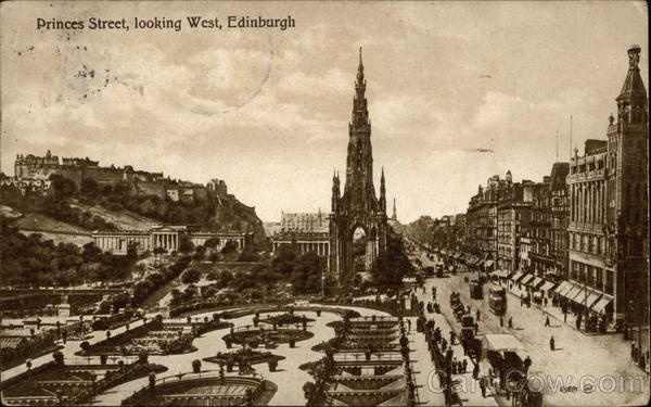 Princes Street, Looking West Edinburgh Scotland