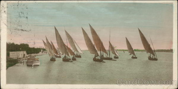 Sailing Boats on the Nile Egypt Africa