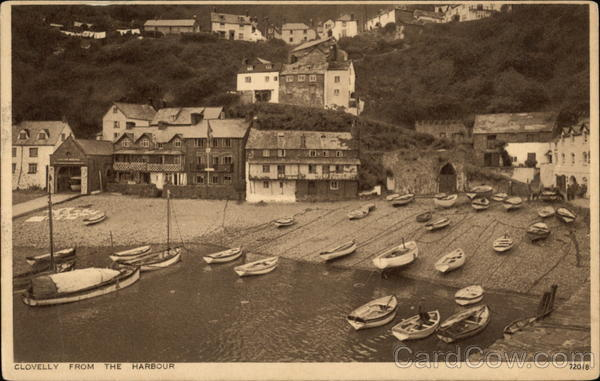 Town from the Harbour Clovelly England