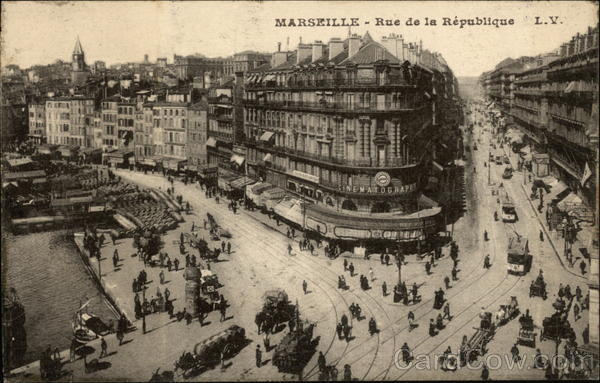 Rue de la Republique Marseille France