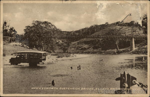 Hawkesworth Suspension Bridge British Honduras San Ignacio Belize