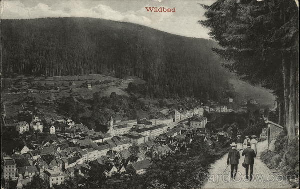 Aerial View of Town Wildbad Germany