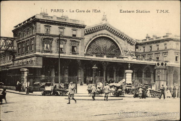 La Gare de L'Est Paris France