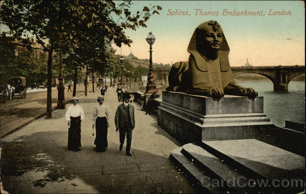The Sphinx, Thames Embankment London England