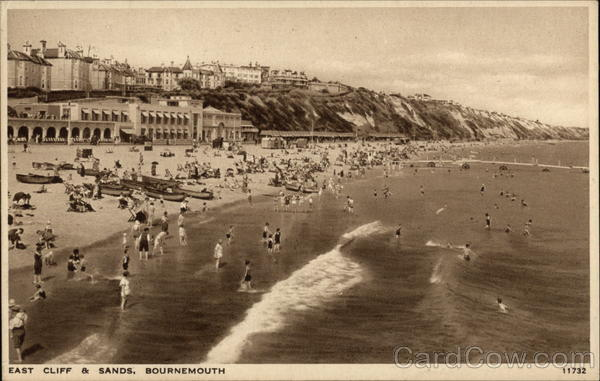 East Cliff & Sands Bournemouth England Dorset