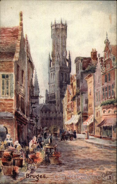 Market Place Bruges Belgium Benelux Countries