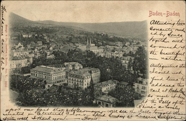 View of the City Baden-Baden Germany