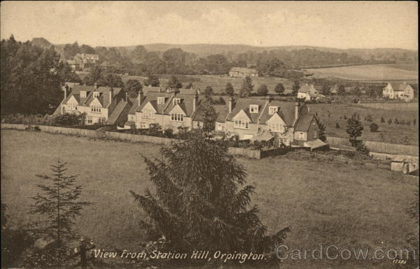 View from Station Hill Orpington England Kent