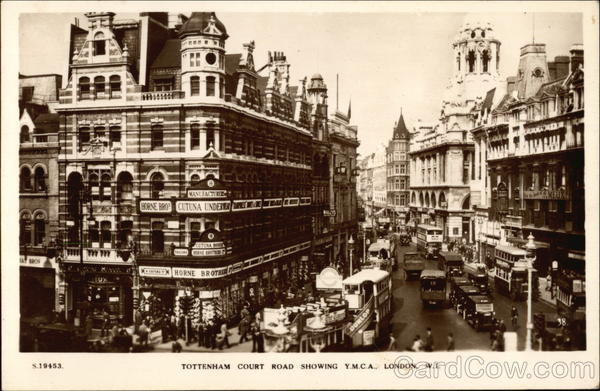 Tottenham Court Road showing Y.M.C.A London England