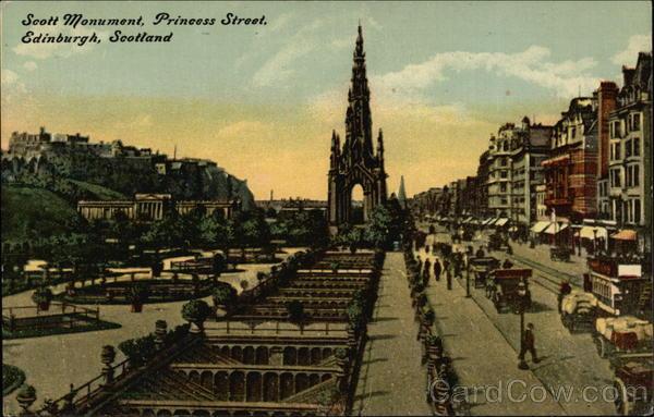 Scott Monument, Princess Street Edinburgh Scotland