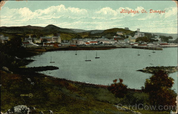 View Across the Bay Towards the Village, Co. Donegal Allybegs Ireland