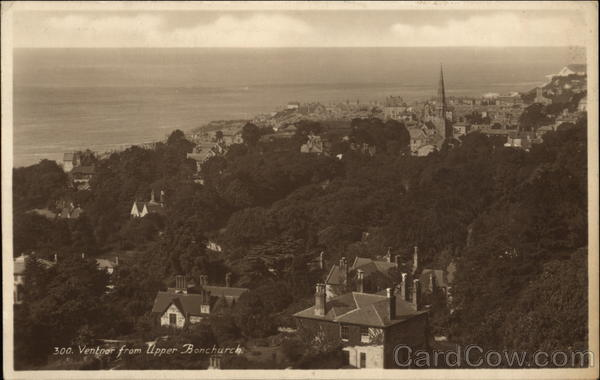 Ventnor from Upper Bonchurch Isle of Wight England