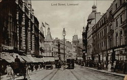 Looking Up Lord Street Postcard