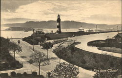 Plymouth Hoe from Citadel Postcard