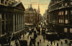 The Mansion House and Cheapside Postcard