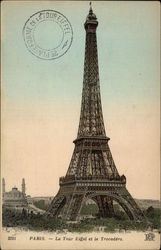 The Eiffel Tower and the Trocadero with Postmark