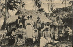 Group of Native Family at their Huts