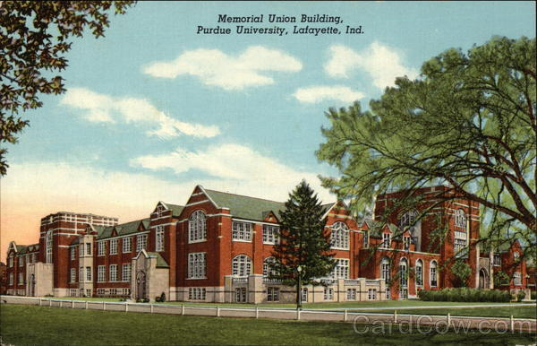 Memorial Union Building, Purdue University Lafayette Indiana