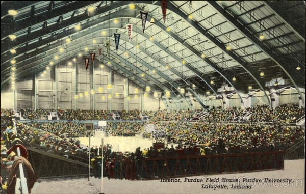 Interior, Purdue Field House, Purdue University Lafayette Indiana