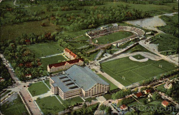 Aerial View of Athletic Department of Purdue University Lafayette Indiana