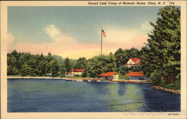Round Lake Camp of Masonic Home Utica New York Freemasonry