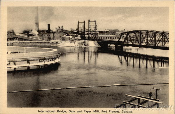 International Bridge, Dam and Paper Mill Fort Frances Canada
