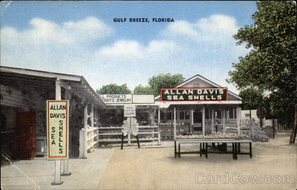 Allan Davis Sea Shells and Souvenirs Gulf Breeze Florida