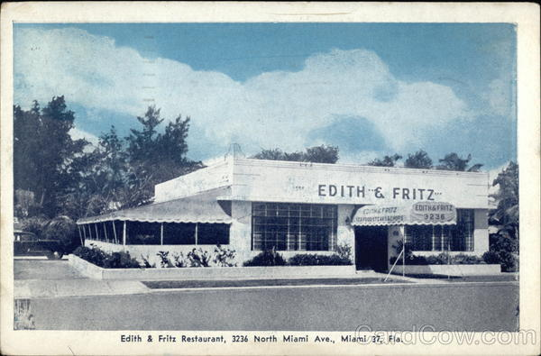 Edith & Fritz Restaurant Miami Florida