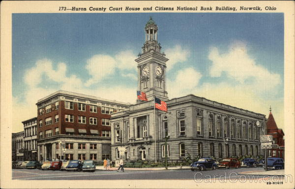 Huron County Court House and Citizens National Bank Building Norwalk Ohio