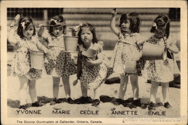 The Dionne Quintuplets at Callander Ontario Canada