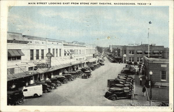 Main Street Looking East From Stone Fort Theatre Nacogdoches Texas