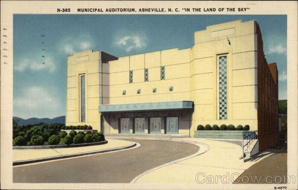 Municipal Auditorium In the Land of the Sky Asheville North Carolina