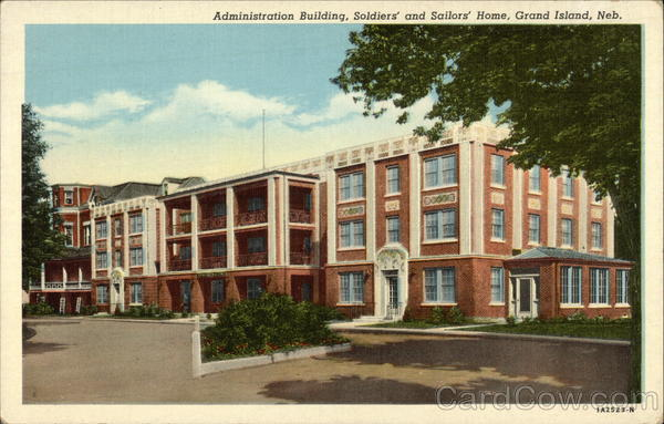 Administration Building, Soldier's and Sailors' Home Grand Island Nebraska