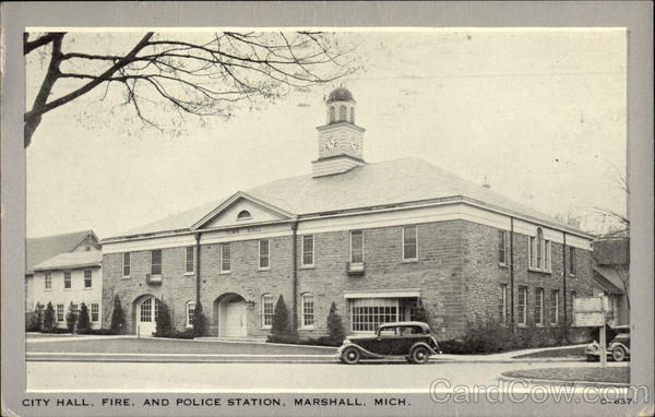 City Hall, Fire, and Police Station Marshall Michigan