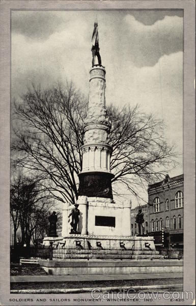 Soldiers and Sailors Monument Winchester Indiana