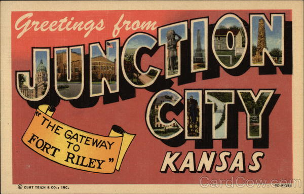 Greetings from Junction City Kansas Large Letter