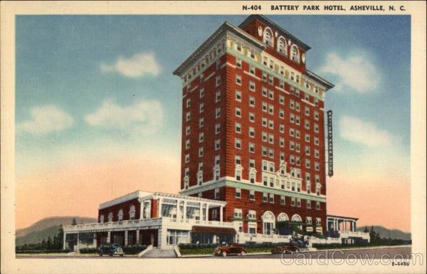 Battery Park Hotel - Atop Down-town Asheville North Carolina