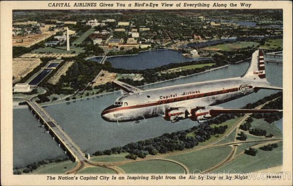 Capital Airlines Gives You a Bird's-Eye View of Everything Along the Way Washington District of Columbia